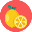 citrus, food, lemon icon