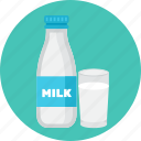 bottle, drink, glass, milk icon