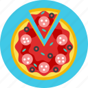 food, pizza, salami, fastfood