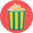 corn, food, popcorn icon