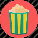 food, popcorn, corn icon