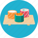 food, japanese food, rolls, sushi icon