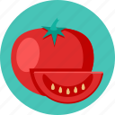 food, tomatoes, vegetable icon