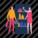 shop, store, food, couple