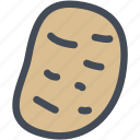 boiled, food, potato, potatoes, vegetable icon
