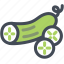 cucumber, farm, food, produce, vegetables icon