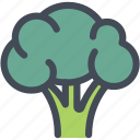 broccoli, food, healthy food, ingredient, nutrition, vegetable icon