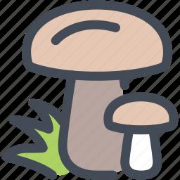food, fungi, mushroom, mushrooms, plant, toadstool icon