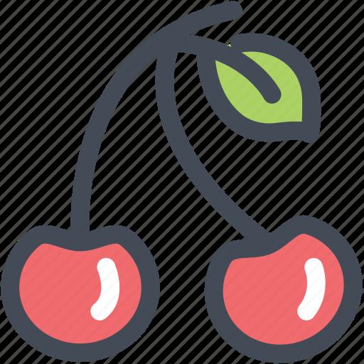 cherries, cherry, food, fruit, nutrition icon