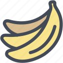 banana, bananas, food, fruit, grocery, healthy icon