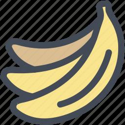 banana, bananas, food, fruit, grocery, healthy icon