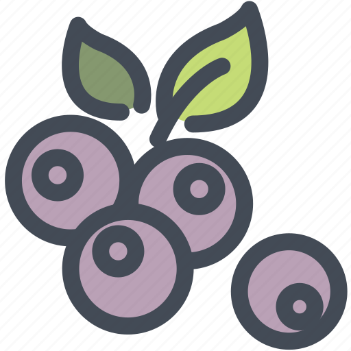 berry, blueberry, food, fruit, healthy icon