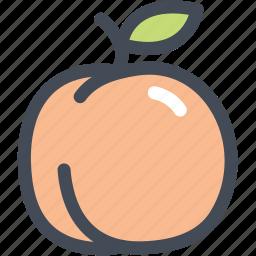 food, fruit, healthy, organic, peach icon
