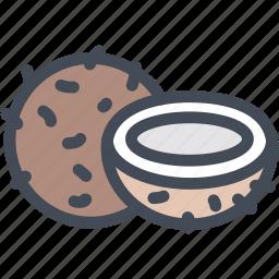 coco, coconut, coconut half, food, fruit icon