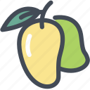 fleshy fruit, food, fruit, mango, mango fruit, tropical icon