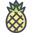 food, fruit, pineapple, pineapple fruit, slice of pineapple, tropical icon