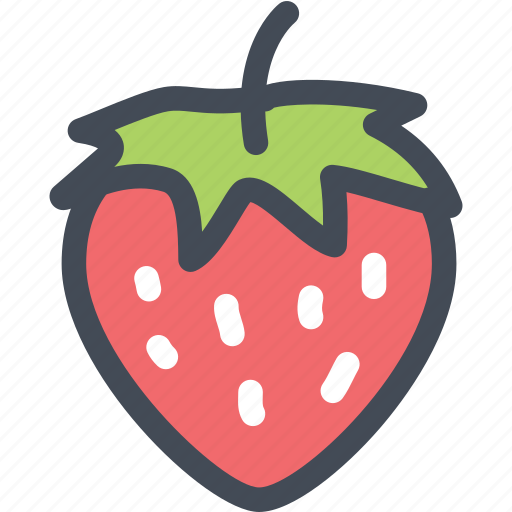 food, fresh fruit, fresh strawberry, fruit, strawberries, strawberry icon