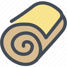 bread, bread roll, breakfast, food, wheat bread icon