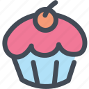 bakery, cupcake, dessert, food, frosting, sugar icon