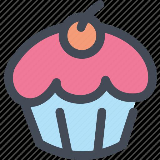 bakery, cupcake, dessert, food, frosting, sugar icon