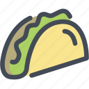 burrito, eat, fastfood, food, taco icon