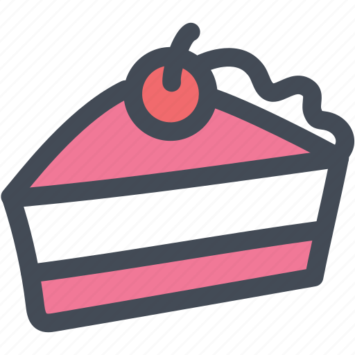 cake, cherry, chocolate, dessert, food icon