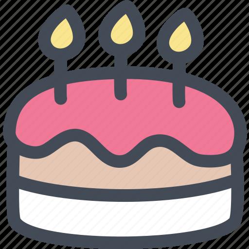 birthday, birthday cake, cake, cake decorating, food, party icon