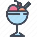float, food, ice cream, ice cream sundae, icecream icon