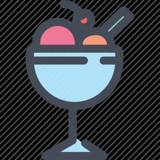 float, food, ice cream, ice cream sundae, icecream icon