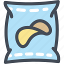 chip, food, junk food, package, potato, snack icon