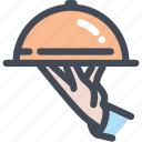 food, food service, hotel, restaurant, service, waiter icon