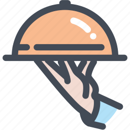food, food service, hotel, restaurant, service, waiter icon