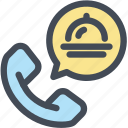 delivery, food, food call, food delivery, service icon