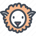 animal, farm, food, sheep, white, wool icon