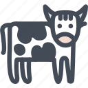 beef, cow, farm, food, animal, bull icon