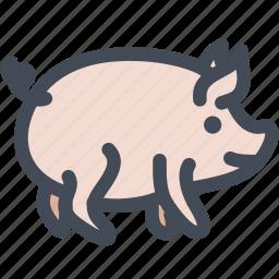 animal, food, pet, pig, pig face, piggy icon