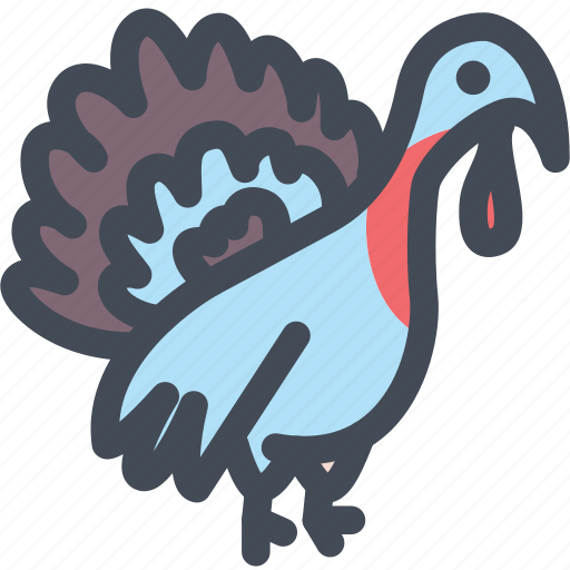 animal, animals, bird, food, poultry, turkey icon