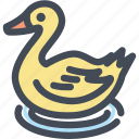 food, bath duck, rubber duck, water, shower duck, duck icon