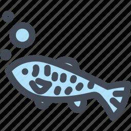 animal, fish, food, fresh, meat, ocean icon