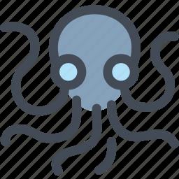 food, ocean, octopus, seafood, squid, tentacle icon