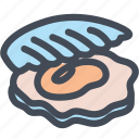 shell, food, seashell, scallop, sea food, oyster icon