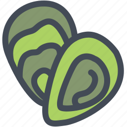 food, oyster, sea, seafood, shell icon