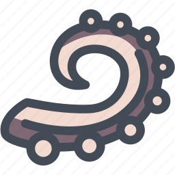 food, octopus, octopus tentacles, sea, seafood, tentacles icon