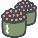 caviar, eggs, food, japanese, sushi icon