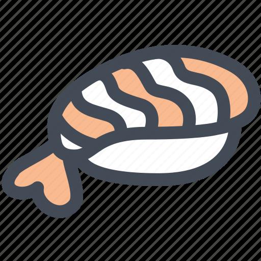 food, japanese, nigiri, shrimp, sushi icon