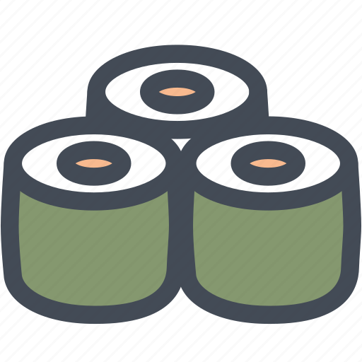 asian food, food, japanese, raw sushi, seafood, sushi, sushi roll icon