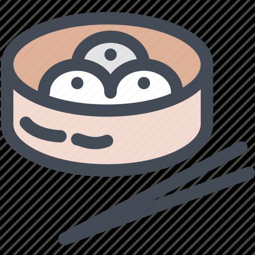 chinese food, dim sum, food, japan food, steam basket icon