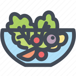 food, healthy, salad, salad bowl, vegetable icon