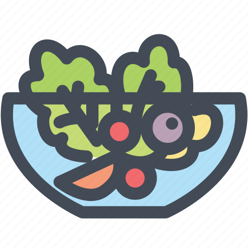 food, healthy, salad, salad bowl, vegetable icon