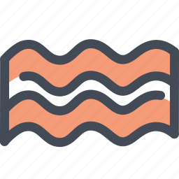 bacon, bacon foods, food, meat, pork icon